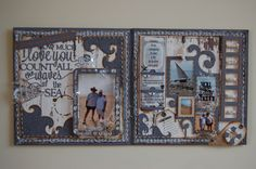 """If you want to know how much I love you - count all the waves of the sea (Double Page - Scrapbooking Layout) by - JAMIE PENSON Go to """"Jamies Happy Scrapping"""" for LOADS more layouts and more photos of this layout"""