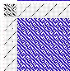 draft image: Figure 374, A Handbook of Weaves by G. H. Oelsner, 16S, 15T