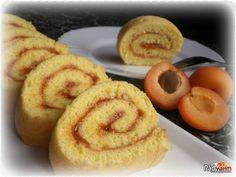 Rýchla roláda s marhuľovou marmeládou | recept | RadVarim.sk Homemade Donuts, Doughnut, Deserts, Muffin, Food And Drink, Tiramisu, Baking, Breakfast, Anna