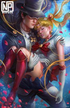 Tuxedo Mask & Sailor Moon ~  Darien & Serena