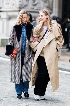 Уличная мода: Неделя моды в Париже сезона осень-зима 2018-2019: стритстайл