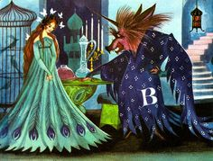 From The Blue Book of Fairy Tales, illustrated by Gordon Laite, 1959.