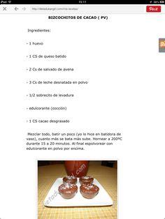 Bizcochos cacao dukan