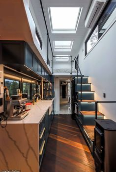 35 Best Tiny House Built by Incredible Tiny Homes Home Design Ideas Tiny House Design built design Home Homes House ideas Incredible Tiny Best Tiny House, Modern Tiny House, Tiny House Living, Tiny House Plans, Tiny House Design, Tiny House Loft, Modern Houses, Tiny House On Wheels Stairs, House And Home