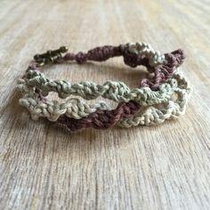 Bracelet en macramé chanvre Bracelet Bracelet tressé par Fanfarria