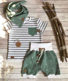 WIA-Handmade neugeborene babykleidung - My favorite children's fashion list Sewing For Kids, Baby Sewing, Toddler Outfits, Baby Boy Outfits, Kids Boys, Baby Kids, Summer Set, Spring Summer, Fabric Purses