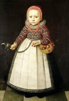 Portrait of a Young Girl, 1590s, Adriaen van der Linde