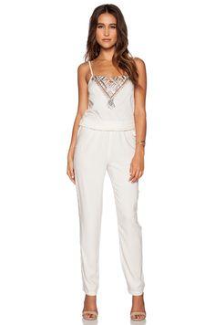 f5e5747d024 Shop for Star Mela Tegan Embroidered Jumpsuit in Ecru at REVOLVE.