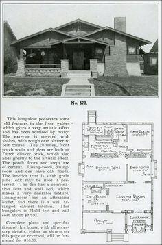 Versatile bungalow plan - The Bungalow Book - 1910 - Inglenook