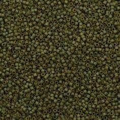 25g Miyuki Delica Seed Bead 11/0 Matte Opaque Light Yellow Green Gold Luster AB DB372