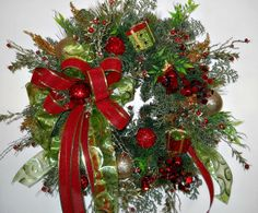 Holiday Sparkle  Christmas Wreath  Presents by ArtificialWreaths, $105.00