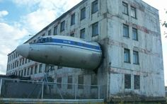 Back of an abandoned building in northern Russia x-post from rWTF