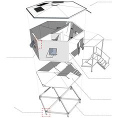 Exploded axonometric Hex House by Architects for Society refugee crisis housing architecture news