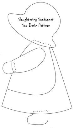 Slaughtering Soo of the Sun Bonnet Quiltfree sunbonnet sue patterns to print - Yahoo Canada Image Search ResultsResultado de imagen para tips for making sunbonnet sue quiltEntretelas y patchwork: Muñeca SueWill applique this onto a denim background - we Applique Quilt Patterns, Applique Designs, Embroidery Patterns, Sewing Patterns, Sunbonnet Sue, Girls Quilts, Baby Quilts, Motifs D'appliques, Hobby Lobby Crafts