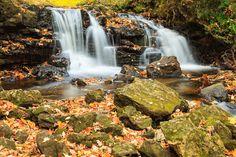 Upper Chapel Falls - Upper Chapel Falls  Pictured Rocks National Lakeshore Michigan