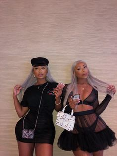 The Clermont Twins Go Best Friend, Best Friend Outfits, Best Friend Goals, Twin Outfits, Girl Outfits, Cute Outfits, Fashion Outfits, 2000s Fashion, Black Girls