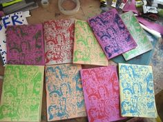 Would love to start screen printing my covers... it just gives everything such a wonderful tactile feel!
