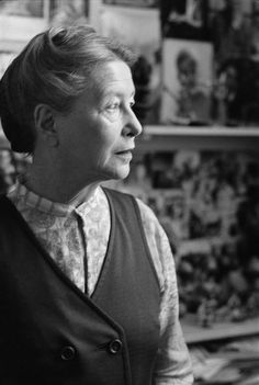 Simone de Beauvoir (1908-1986) - French writer, intellectual, existentialist philosopher, political activist, feminist and social theorist. Photo by Gisèle Freund, 1974
