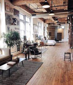 Stylish interior loft from Loft apartment or suburban home?