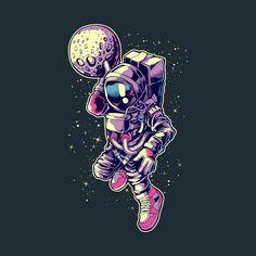 Shop Astronaut Dunk slam dunk t-shirts designed by yogaswara as well as other slam dunk merchandise at TeePublic. Art And Illustration, Astronaut Illustration, Art Pop, Art Design, Moon Design, Vector Art, Cool Art, Concept Art, Graffiti