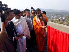 नागालैंड के पेरिन में नागालैंड चीफ मिनिस्टर TR Zeliang, home minister Kuzholuzo Nienu, Shri N.Thomas Lotha, हेल्थ , मेडिकल, स्किल डेवलपमेंट व कैरेक्टर बिल्डिंग के लिए 500 एकड़ के संस्थान का शिलान्यास किया...