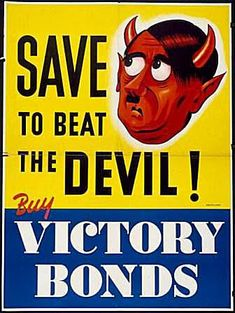 Save to Beat the Devil - Canadian World War II Poster