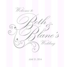 Wide Pink Stripe Custom Label for Wedding Welcome Bags by 4WeddingWelcomeBags, $0.70