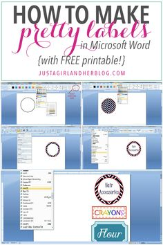 Label Templates In Word . 30 Label Templates In Word . How to Create Mailing Labels In Word Microsoft Word Free, Microsoft Office, How To Make Labels, Create Labels, How To Print Labels, Computer Help, Computer Tips, Computer Programming, Quilt Labels