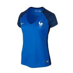 European Cup France Home Football Shirt For Women Mon Cheri, Football Shirts, Wetsuit, Athletic Tank Tops, European Cup, Summer 2016, Swimwear, Women, Fashion