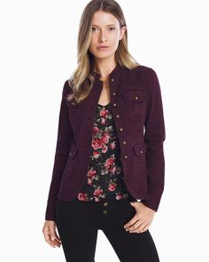 Women's Button-Front Jacket by WHBM