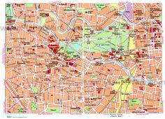 Germany travel info : Berlin map
