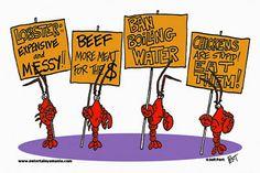 Cartoon Lobster | Lobster Mugs - Lobster Picket Line - Cartoon Gifts by Entertain Ya ...