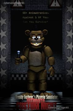 So, this poster is basically a little thing I made just to add to the hype of the new Ultimate Custom Night Scott's making. Fnaf Golden Freddy, Fnaf Freddy, Freddy Fazbear, Five Nights At Freddy's, Fnaf Wallpapers, Fnaf 1, Fnaf Characters, Fnaf Drawings, Sister Location