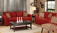 Red Couch Living Room, Living Room Colors, Living Room Decor, Cozy Living, Sofa Inspiration, Living Room Inspiration, Sofa Bed Design, Sofa Colors, Sofa Frame