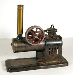 Ca1930 Gebruder Bing Werke Works Horizontal Overtype Live Steam Engine Toy   eBay