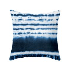 The Blue Dipped Tie-Dye Pillow delivers natural charm and character. A bold blue hue adds brilliance to a white bedding ensemble or armchair and the ripple effect is a lovely subtle nautical hint that ...  Find the Blue Dipped Tie-Dye Pillow, as seen in the Flash Sale: Décor Collection at http://dotandbo.com/collections/get-what-you-really-wanted-flash-sale-decor?utm_source=pinterest&utm_medium=organic&db_sku=107034