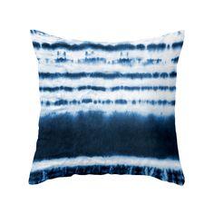 Blue Dipped Tie-Dye Pillow - Dot & Bo