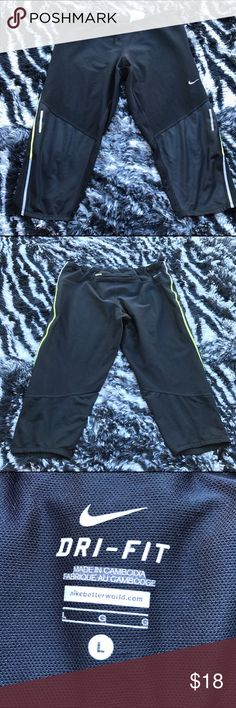 Nike Dri-Fit Capris Workout Tights In good condition Nike Pants Capris