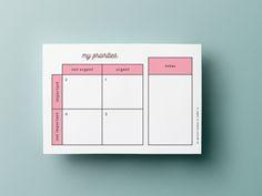 aspiring good person - Eisenhower matrix printable