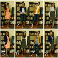 Eight pieces for 8 days of outfits