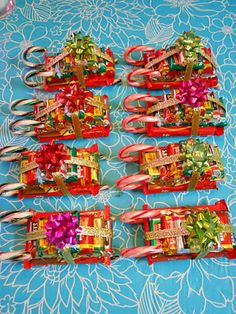 ellyn's place: candy sleighs  SO doing this for Christmas,forgoing the baking!!