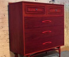 Atomic Red Dresser by Omforme