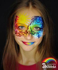 - Famous Last Words Adult Face Painting, Face Painting Tips, Face Painting Tutorials, Face Painting Designs, Body Painting, Face Paintings, Kids Makeup, Face Makeup, Rainbow Face Paint