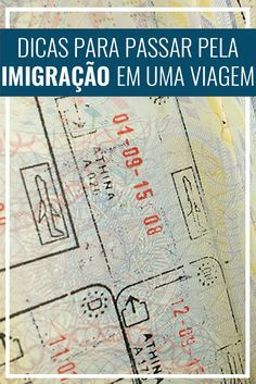 Dicas para passar pela imigração em uma viagem internacional. Documentos necessários, perguntas feitas e outras dicas. Passaporte, Europa, Estados Unidos. Travel Advice, Travel Guides, Travel Tips, Eurotrip, Travel And Tourism, Solo Travel, Places To Travel, Travel Destinations, Travel Organization