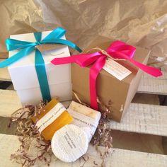 Cajas y jabones artesanales