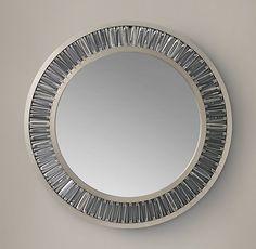 "RH Lombard Prism Round Mirror 42"" $1,458"