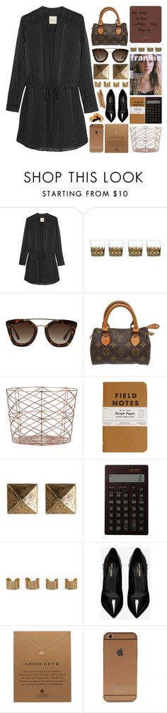 """Monogram Day"" by igedesubawa ❤ liked on Polyvore featuring Michelle Mason, DWBH Homewares, Prada, Louis Vuitton, Bloomingville, Blu Bijoux, Muji, Maison Margiela, Yves Saint Laurent and Dogeared"