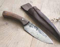 Hand forged knife outdoor kitchen hunting