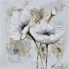 Tableau peinture à l'huile Fleurs des champs Couleur Multicolore ...
