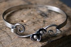 Buttercup Vines Sterling Silver Banglestyle by rarebirdcreations, $70.00
